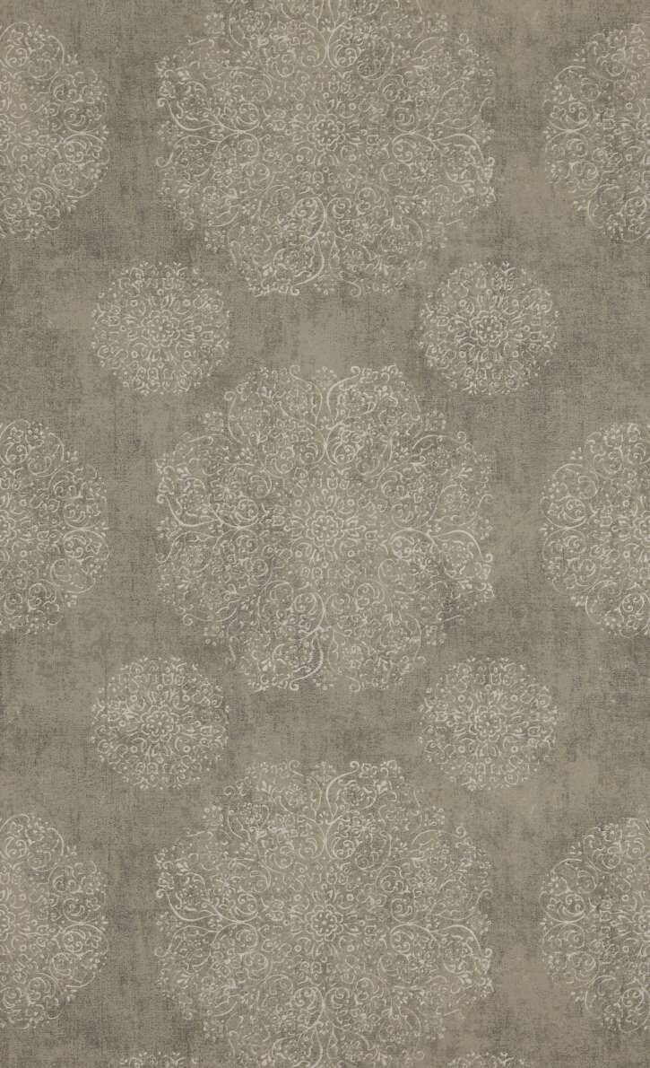 Ash Grey Blooming Medallion Wallpaper R5243 . Grey wallpaper. Minimalist wallpaper. Bohemian wallpaper. Floral Wallpaper