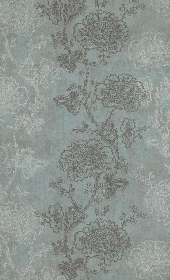 Soft Teal Blossom Wallpaper R5252 | Floral Home Interior