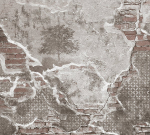 Reawaken Faux Marble Mural Wallpaper M9204 - Sample