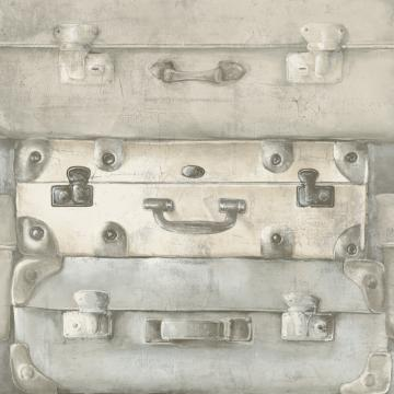 Off White Vintage Suitcases Wallpaper R4818 | Vintage Home Ideas