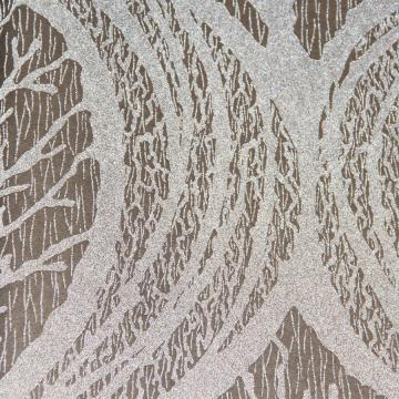 Silver & Brown Mystical Leaf Wallpaper R3617 | Modern Home Interior
