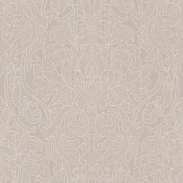 Lace Damask Linen Wallpaper Beige R4714