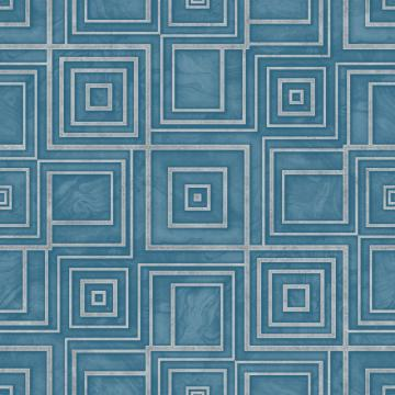 Blue Geometric Marble Wallpaper R4812 | Modern Home Interior