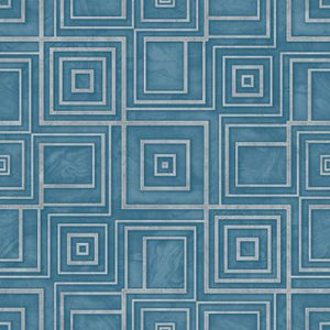 Modern Geometric Marble Wallpaper Blue and Silver R4812