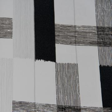 Modern Velvet Flock Black & White Crossroads Wallpaper R3636