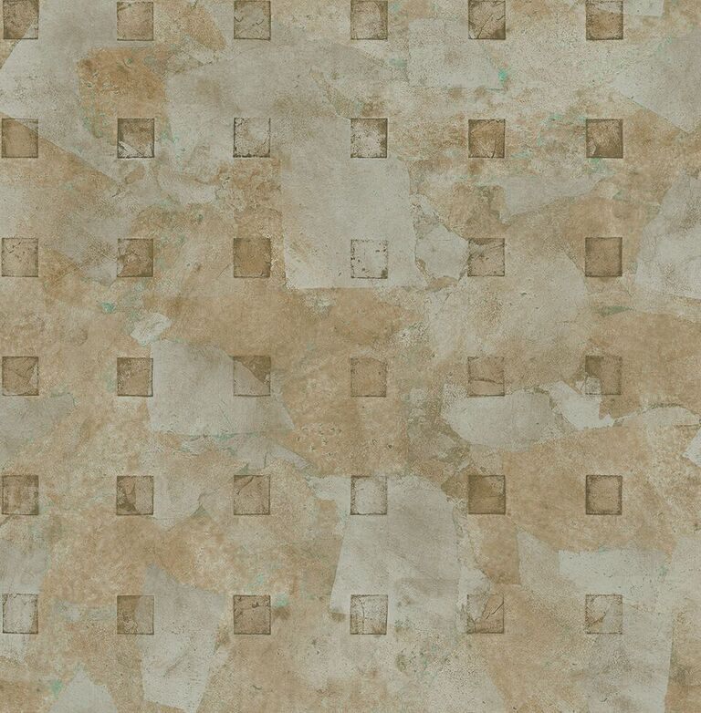 Peach Square Layered Textured Wallpaper R5124 | Vintage Home Interior