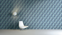 Gradient Geometric Tiles Wallpaper Blue and Grey R4766