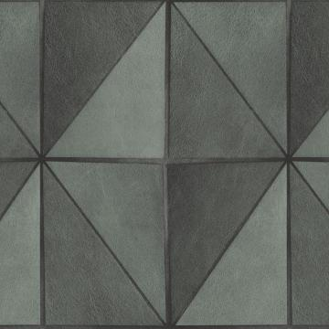 Gradient Geometric Tiles Wallpaper Grey and Black R4767