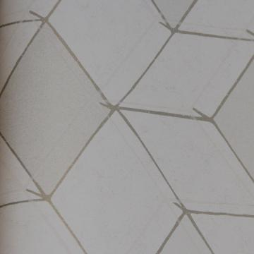 Geometric White Diamond Illusion Wallpaper R3632