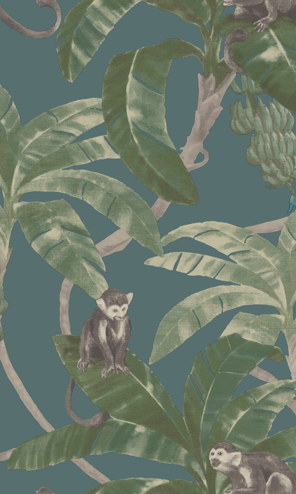 tropical botanical watercolor wallpaper