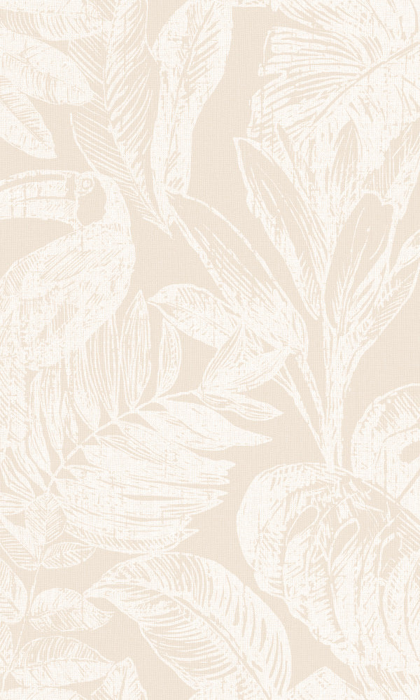 botanical jungle home office wallpaper