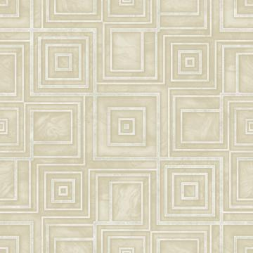 Modern Geometric Marble Wallpaper Yellow and White R4810