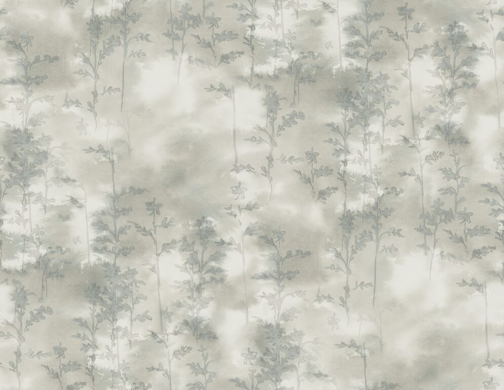 Grey Silkscreen Abstract Wallpaper R5055 | Vintage Home Interior