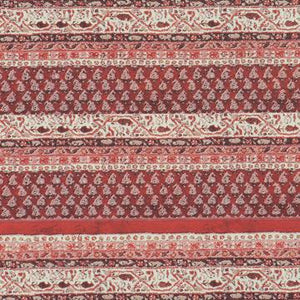 Woven Red Stripe Paisley Wallpaper SR1110