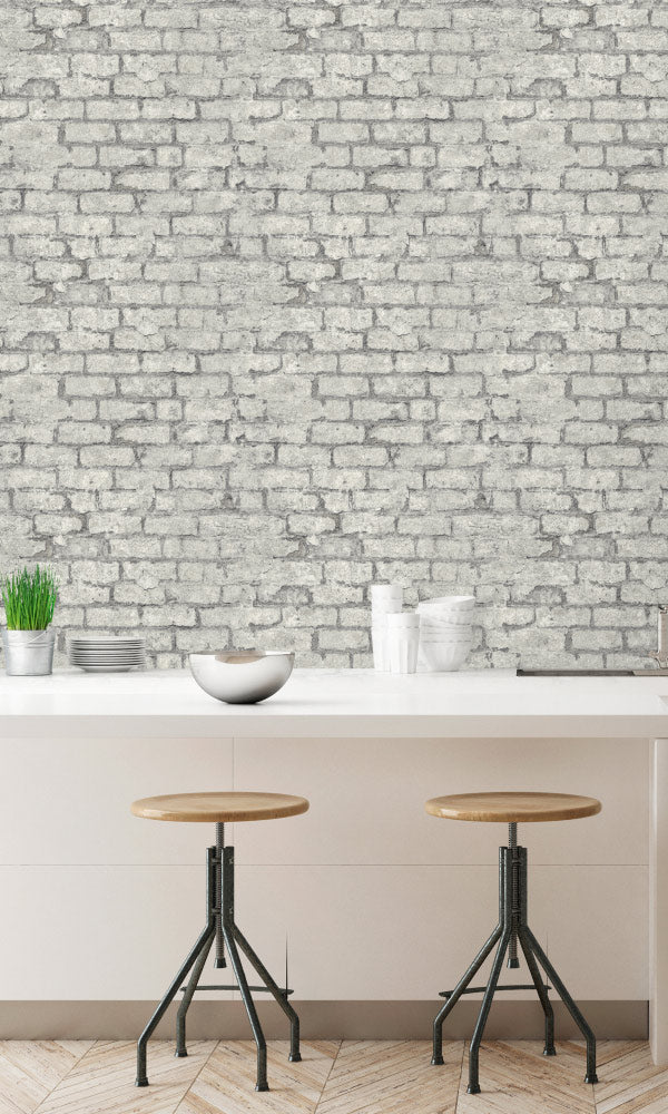 urban faux brick wallpaper