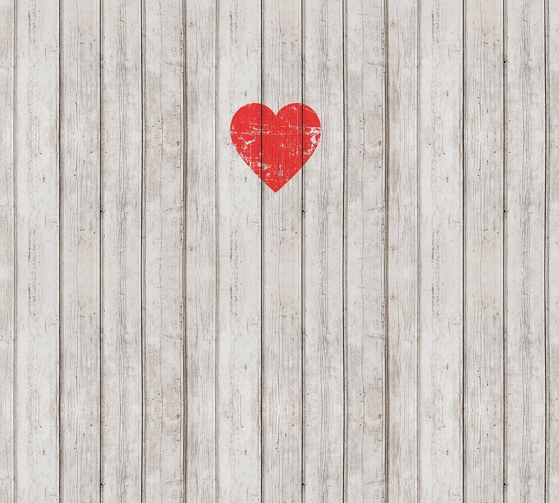 Wooden Love Mural Wallpaper M9229 - Sample