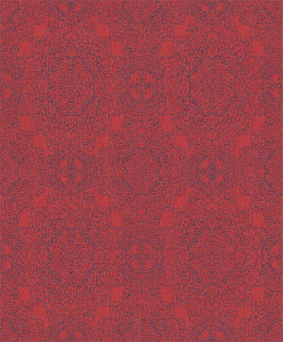 Fabulous Red Classic Damask Wallpaper R5406