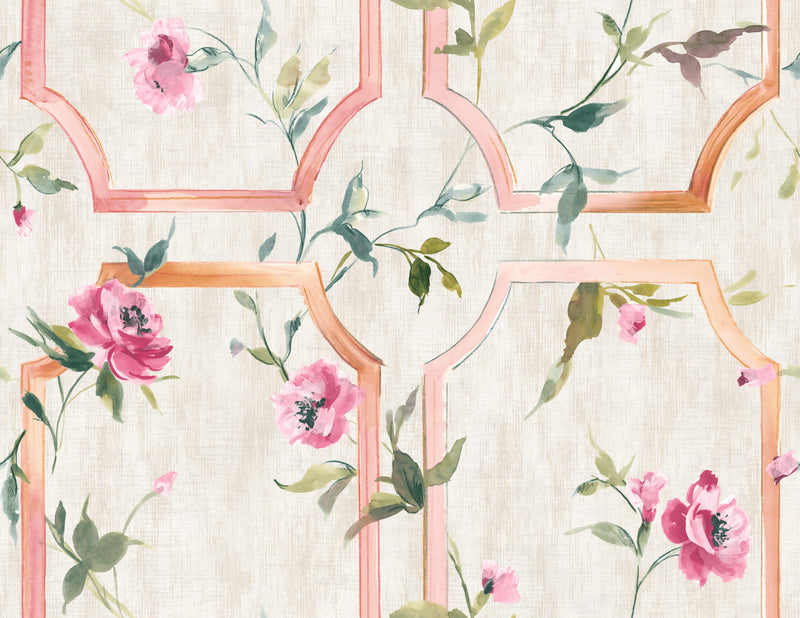 vintage floral wallpaper, Blooming Floral Wallpaper R5041 | Tropical Home Interior