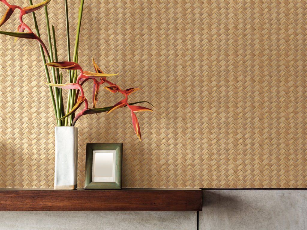 Brown Weaving Straw Wallpaper R5066 | Natural Home Style Ideas