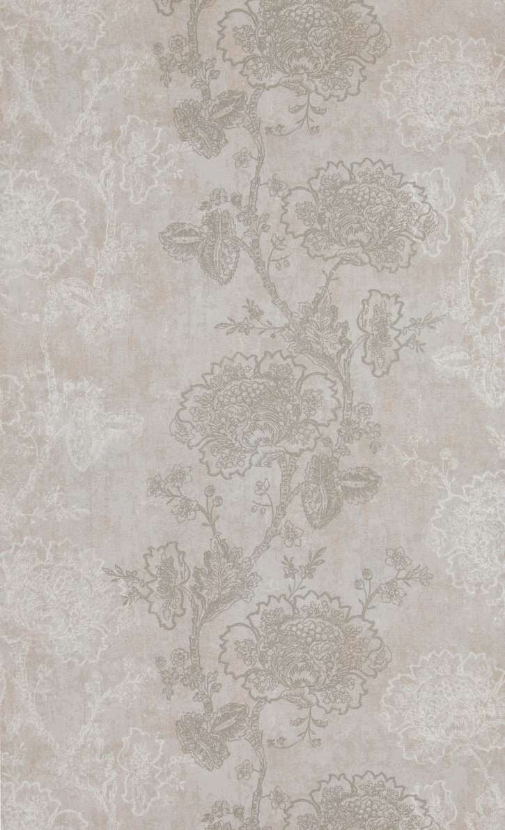 Grey Etched Flowers Wallpaper R5248 Traditional Floral Home