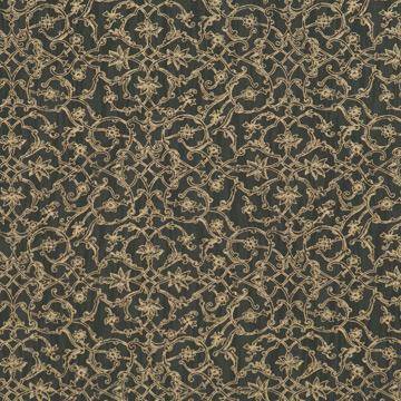 Hedge Black Damask Wallpaper SR1141