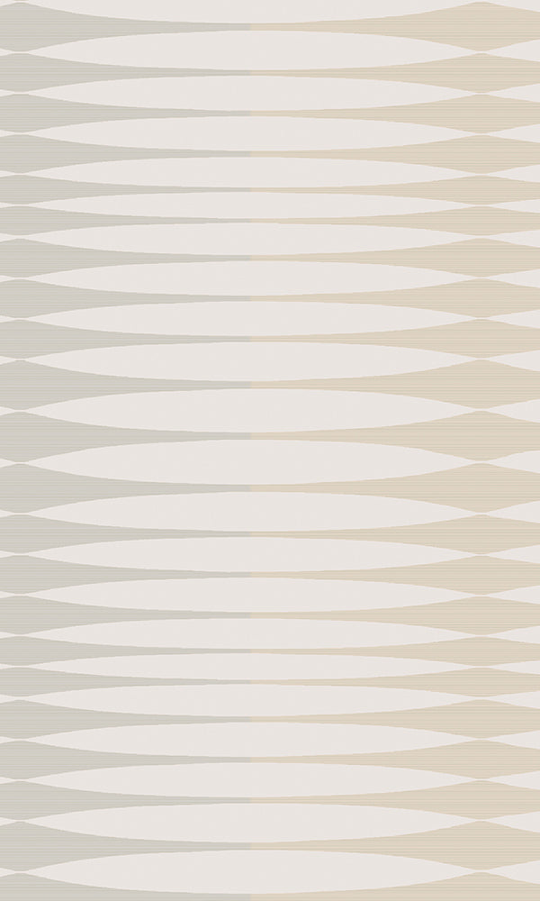 Bronze & Grey Inflated Stripes Wallpaper R5863