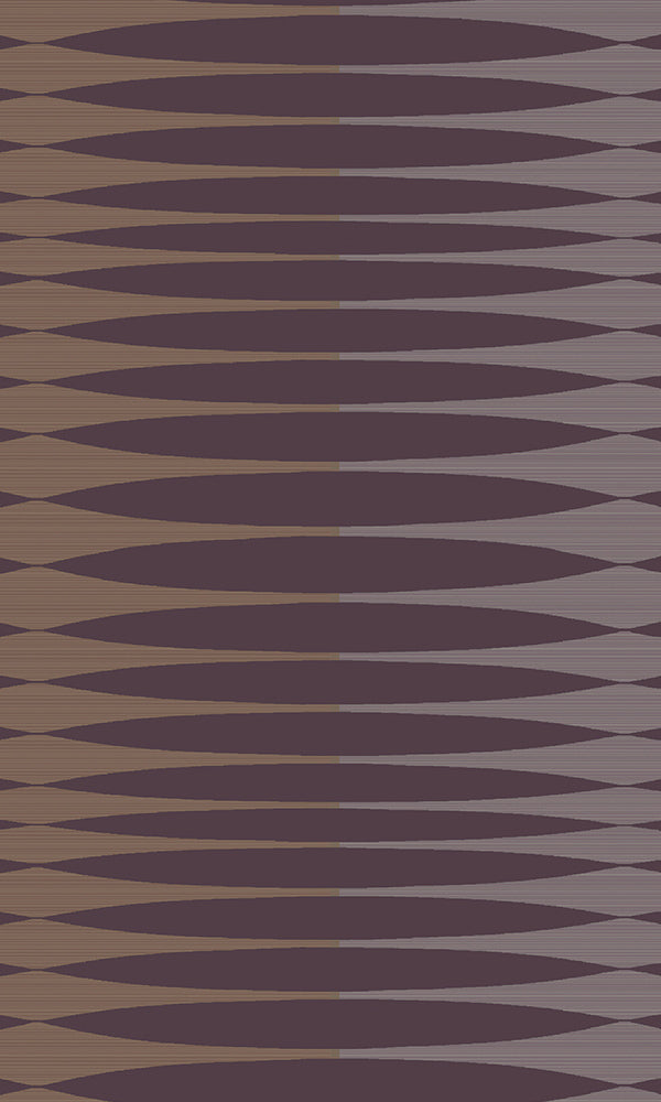 Purple & Silver Inflated Stripes R5867