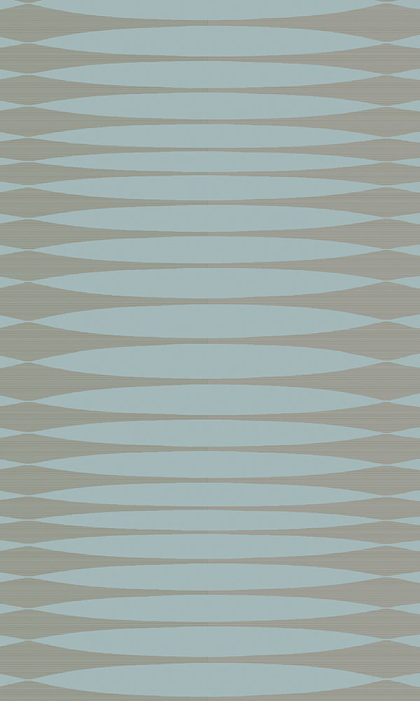 Blue & Bronze Inflated Stripes R5870