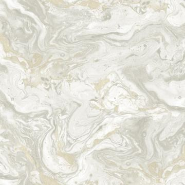 Marbled Jewel Wallpaper Grey and Beige R4797