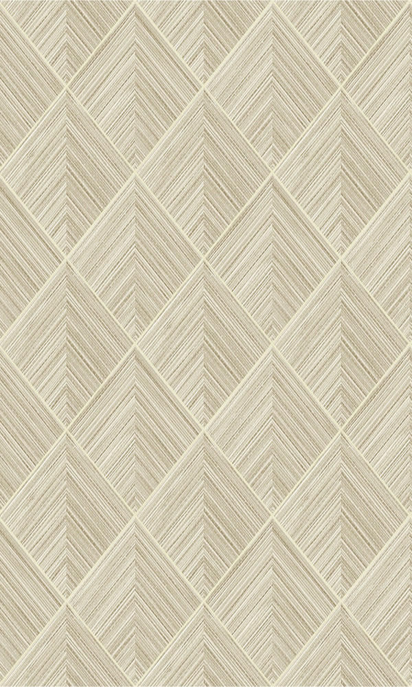 Beige Geometric Illusion 2D Wallpaper R5645. Geometric Wallpaper.