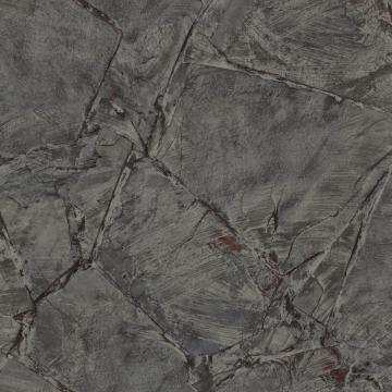 Scratched Stone Tile Wallpaper Black and Taupe R4765