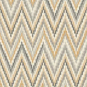 Metallic Static Zigzag Abstract Wallpaper Brown and Orange R4680