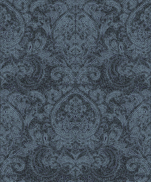 Black Damask Wallpaper R3416 | Traditional Home Wallcovering, traditional, residential, home, non woven, damask,