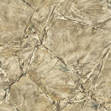 Scratched Stone Tile Wallpaper Beige and White R4761