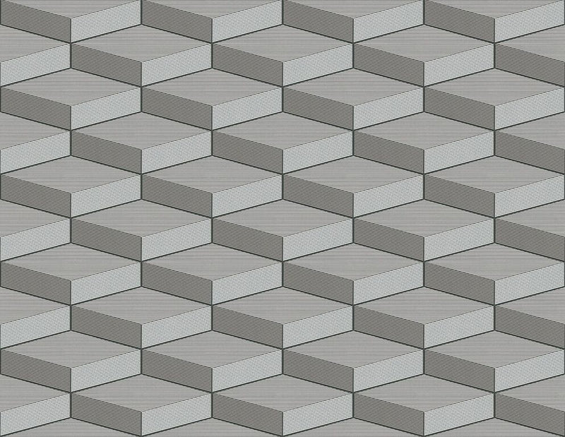 3D Light Grey Geometric Wallpaper R5104 | Elegant Home Interior