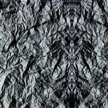 Black Crumpled paper Digital Wallpaper M8957
