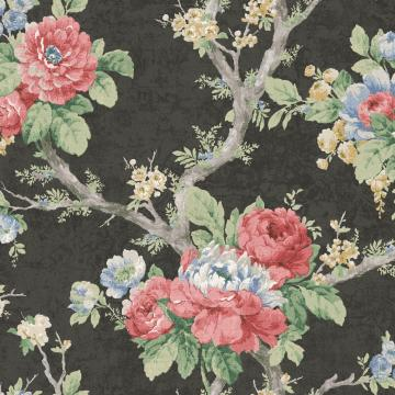 dark vintage floral wallpaper, Classic Garden Bold Floral Wallpaper R4826 | Modern Home Decor Ideas