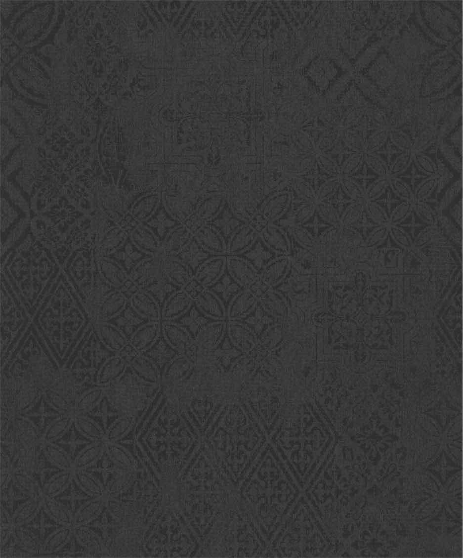 Black Bohemian Style Wallpaper R5418 | Elegant Bedroom Interior
