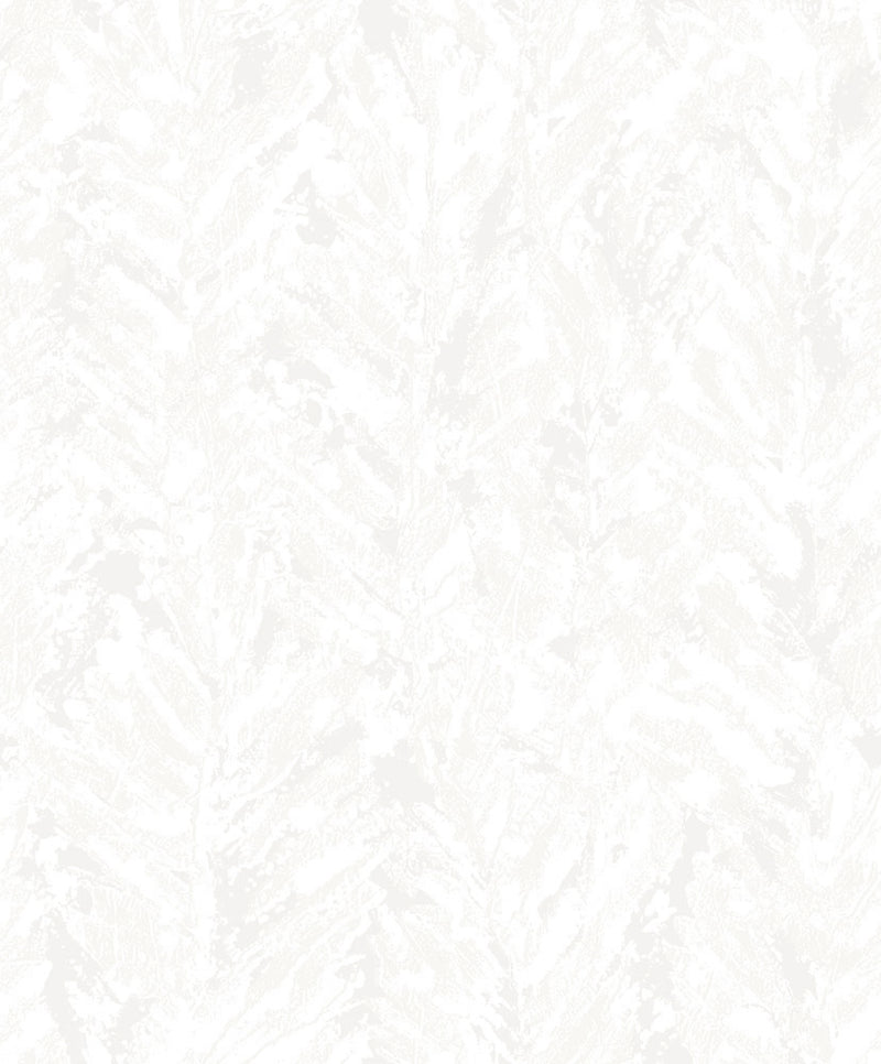Silver Foliole Abstract Leaf Wallpaper R3466