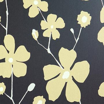 dark floral wallpaper, Dark Floral Yellow Bliss Wallpaper S43736 | Floral Home Wall Covering
