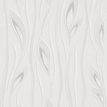 White Leaf Textured Wallpaper R2953