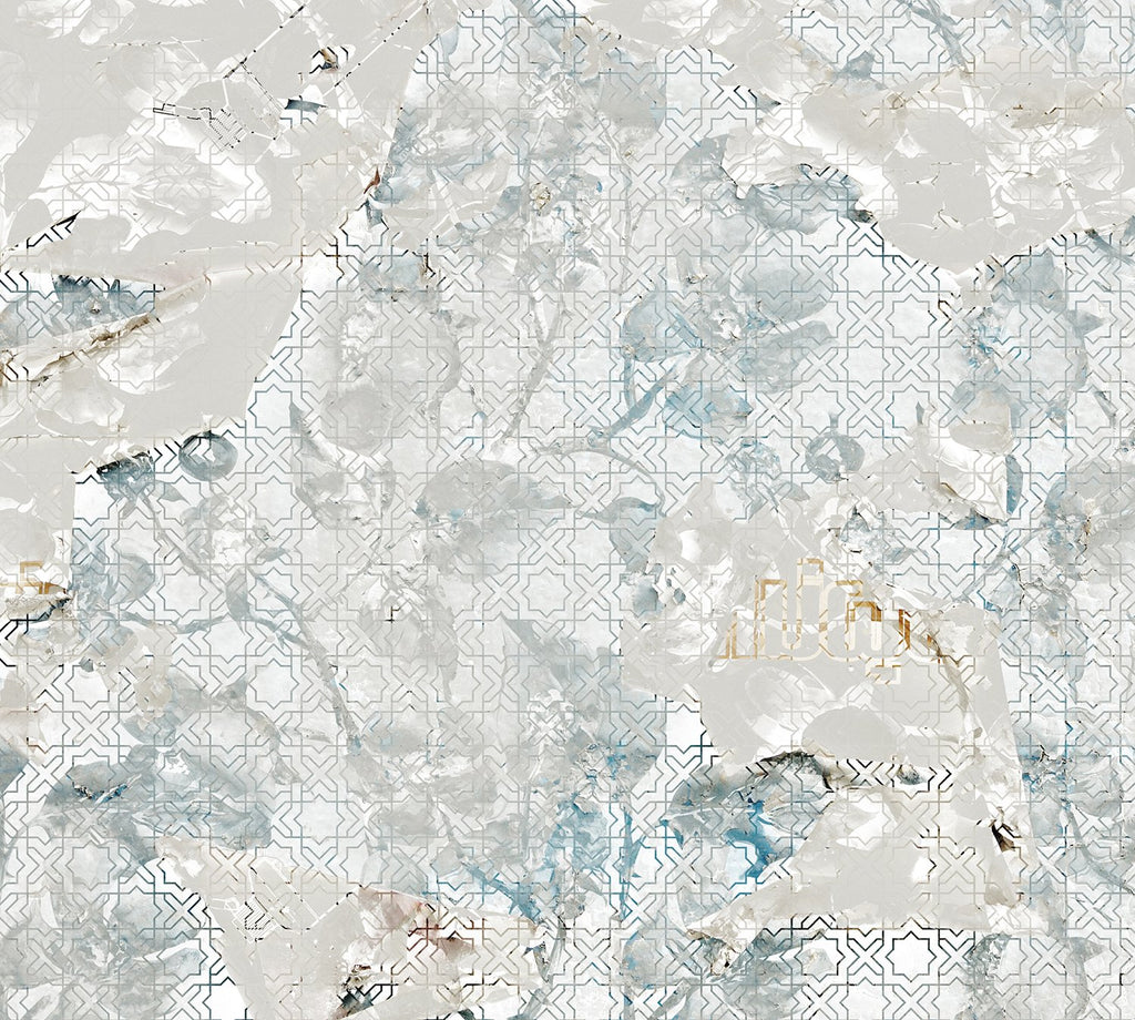 Weathered Arabesque Textured Mural Wallpaper M9217