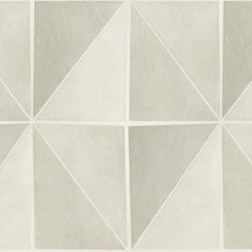 Gradient Geometric Tiles Wallpaper White and Grey R4769