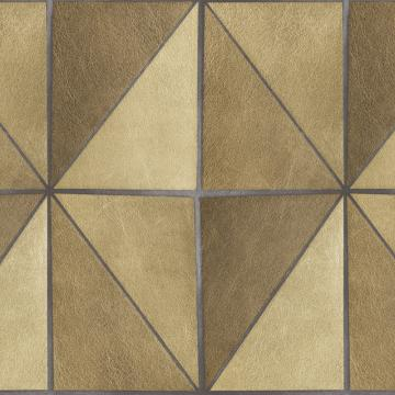 Gradient Geometric Tiles Wallpaper Brown and Beige R4770
