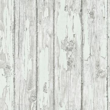 Vintage Faux Wood Wallpaper Grey And White R4788