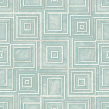 Blue Geometric Marble Wallpaper R4811 | Modern Living Room Interior