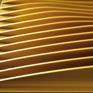 Gold Flange Abstract Mural Wallpaper M9015