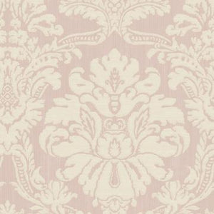 Beige Glittered Damask Wallpaper R4879 | Traditional Home Interior
