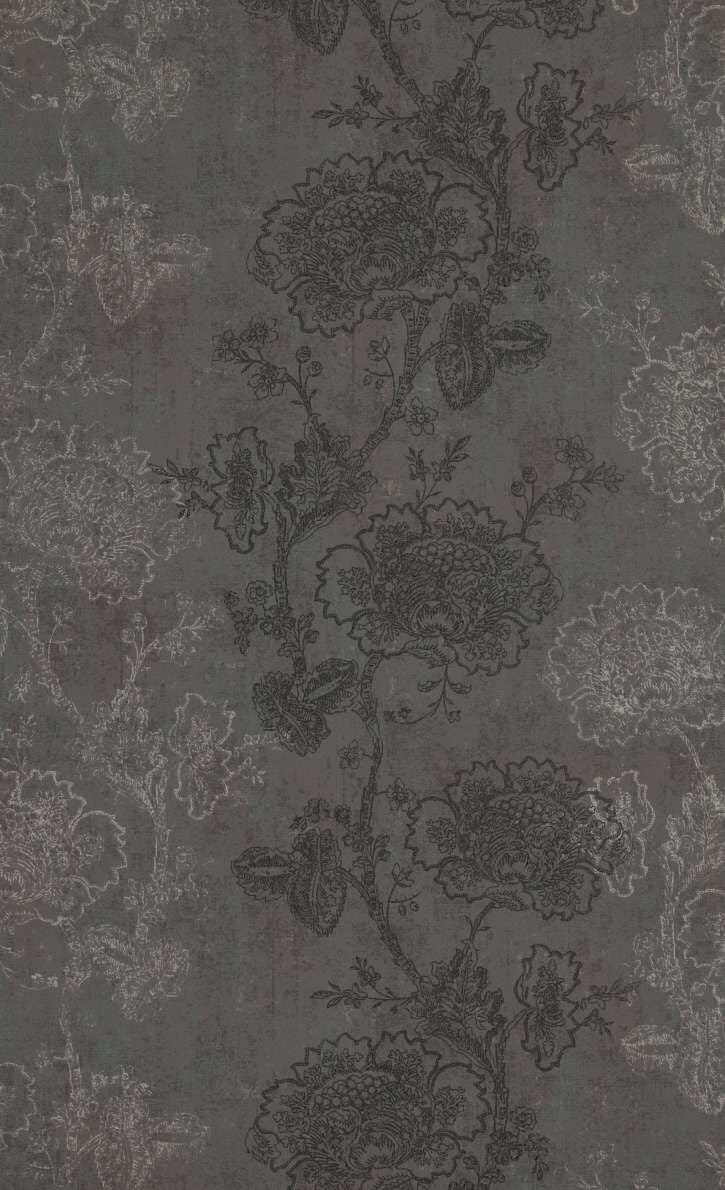 dark floral wallpaper,Taupe Etched Flowers Wallpaper R5249 | Traditional Floral Home Ideas