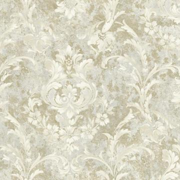 Weathered Blooming Floral Wallpaper Taupe & Grey R4859 . Floral wallpaper